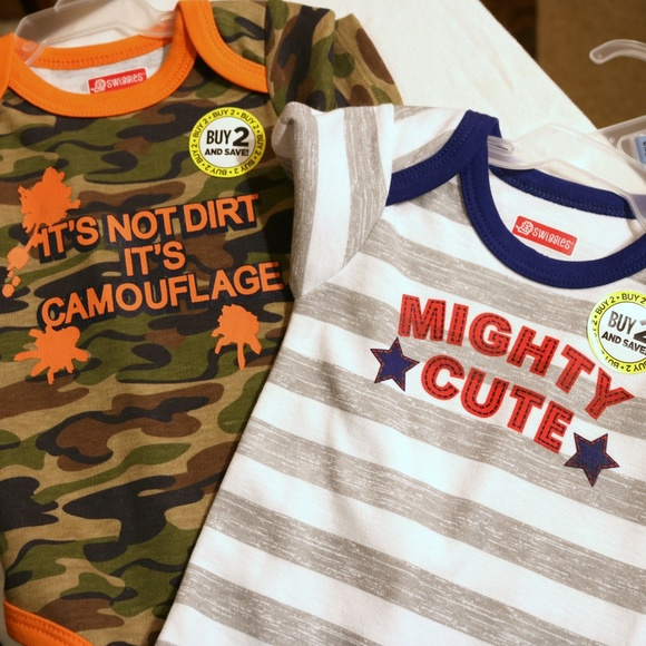 Swiggles Other - Swiggles Camo and Mighty Cute Bodysuits